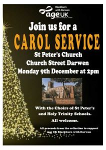 St Peter's Church - Darwen - Christmas Carol Service - Monday 9th December 2019